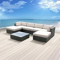 Hot Sale Patio MALLINA 7 Pcs Wicker Furniture NEW (Off White)
