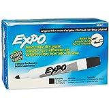 Expo Original Dry Erase Markers, Bullet Tip, 12-Pack, Black