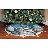 Thomas Kinkade Holidays To Remember Illuminated Tree Skirt: Christmas Tree Decor by The Bradford Exchange