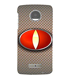 PrintVisa Modern Art Eye 3D Hard Polycarbonate Designer Back Case Cover for Motorola Moto Z