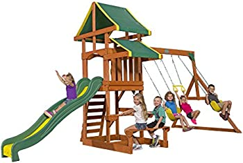 Backyard Wooden Swing Set