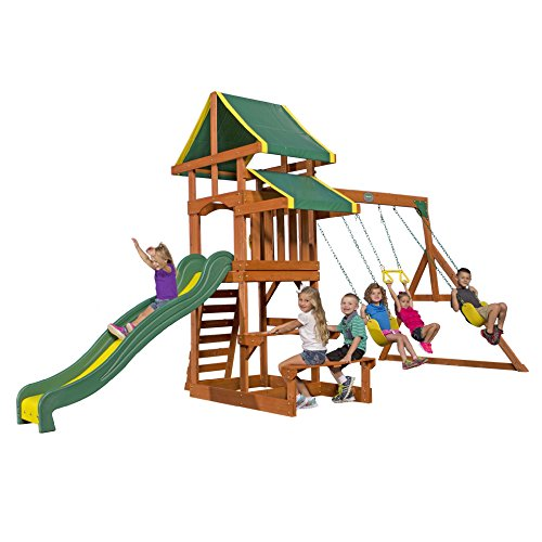 Backyard Discovery Tucson All Cedar Wood Playset Swing Set (Swing Sets For Kids compare prices)