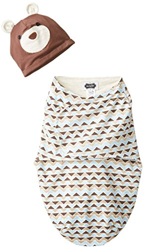 Mud Pie Baby-Boys Swaddle & Hat Set, Brown, 0-3M front-531622
