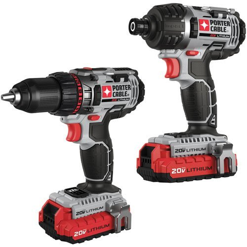 Factory-Reconditioned-Porter-Cable-PCCK602L2R-20V-MAX-Cordless-Lithium-Ion-2-Tool-Combo-Kit
