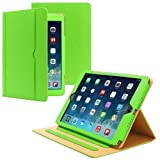 PrimeCases® Green Luxury Smart Pu Leather Case Cover For All New Apple iPad Air
