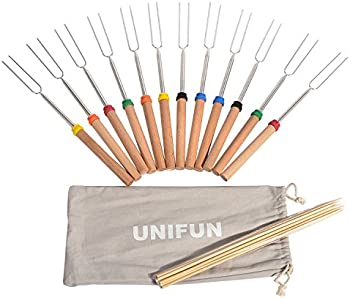 12-Pack Unifun Marshmallow Roasting Sticks