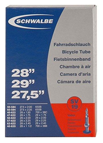 10430340 Camera d'aria per bicicletta SV19 MTB, Sclaverand SV, Presta/French, Nero (schwarz), 27.5 - 29 pollici