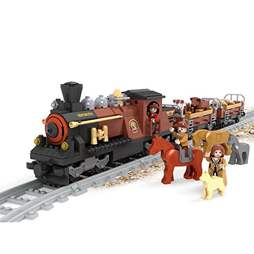 Ausini Building Blocks Train City Toy Series Steam Locomotive #25813 531pcs Compatible with Lego Sluban walthers model train 90 inch length of the train locomotive wheel suite 33 cm 933 933