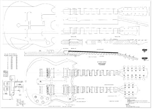 ay wood project free gibson sg electric guitar plans actual size. Black Bedroom Furniture Sets. Home Design Ideas