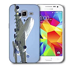 Snoogg Airplane Printed Protective Phone Back Case Cover For Samsung Galaxy CORE PRIME