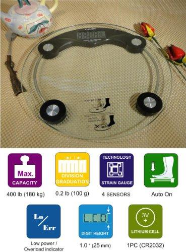 Cheap 3B eSHOP Digital Glass Bathroom Scale EB9004-10 Black (EB9004-10)