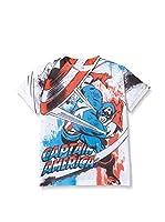 Marvel Camiseta Manga Corta Capt. America Combat (Blanco)