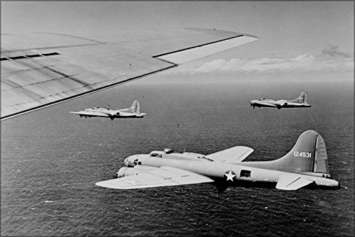 24x36 Poster; Usaaf Boeing B-17F B-17 Flying Fortress Bombers Of The 26Th Bomb Squadron, 11Th Bomb Group Over The Southwest Pacific In 1942