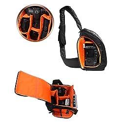 Magideal Tigernu DSLR Camera Single Shoulder Bag Black Orange