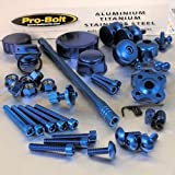 PRO BOLT FULL MONTY ACCESSORY KIT FITS HONDA VTR1000 FIRESTORM 97-01 BLUE