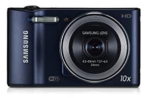 Samsung WB30F Smart Camera 2.0 with Built-In Wi-Fi Connectivity - Cobalt Black/Dark Blue (16MP, 10x Optical Zoom) 3.0 inch LCD