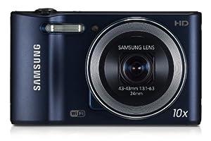 Samsung WB30F Smart-Digitalkamera (16,2 Megapixel, 10-fach opt. Zoom, 7,6 cm (3 Zoll) LCD-Display, bildstabilisiert, WiFi) kobalt schwarz
