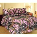PINK FOREST CAMO MicroFiber Comforter Bed Spread -Queen-
