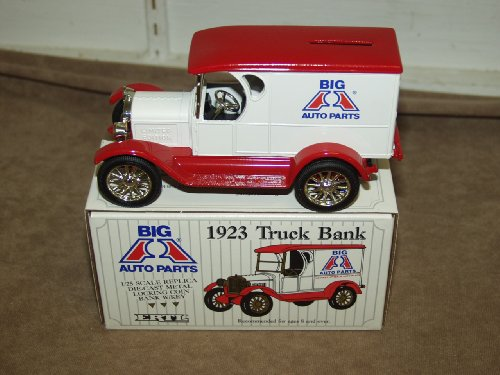 Ertl 1923 1/25 Scale Die Cast Big A Auto Parts Truck Bank front-863904