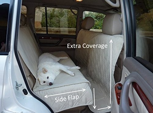 Deluxe Quilted and Padded seat cover with Non-Slip Fabric in Seat Area for Pets - One Size Fits All 56