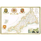 1830 Map of CORNWALL - County Map - Thomas Moule - Reproduction (42 x 30 cm)