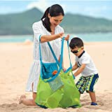 Pardus? Brand and New Beach Mesh Bag Sand Away Carrier Tote (Swim, Toys, Boating, Etc.) Stay Away From Sand -XL Size (Green)