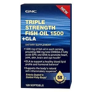 Buy gnc triple strength fish oil 1500 plus gla 120 for Gnc triple strength fish oil 1500