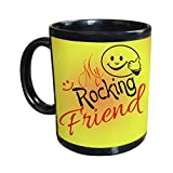 Gift For Friend & Friendship Day Gift Black Coffee Mug Design 4