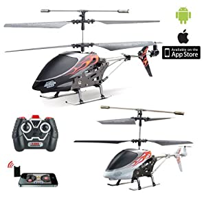 i-Helikopter PRO - 3.5 Kanal rc r/c ferngesteuerter Hubschrauber mit normale Fernsteuerung + Steuerung mit Iphone/Ipad/Ipod Touch oder Android-Gerät, Ready-to-Fly Heli-Modell