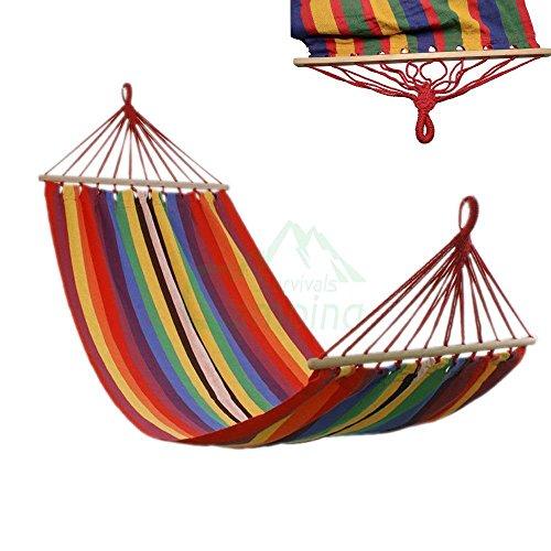 75-x-31-Canvas-Garden-Red-Hammock-Outdoor-Camping-Portable-Beach-Swing-Bed