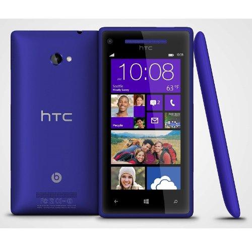 "Unlocked Blue Htc 8X 16Gb, Windows Phone 8, C625A, Dual Camera, 8Mp, 1080P Video, 4.3"" Lcd, Beats Audio, 2G Gsm 850/900/1800/1900Mhz, 3G Hspa 850/1900/2100Mhz"