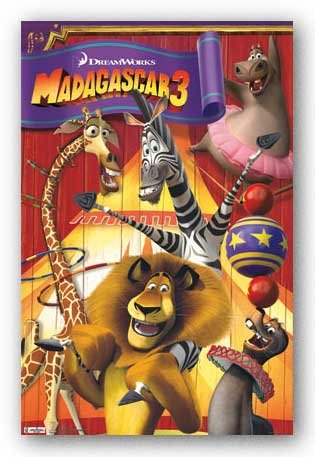 Madagascar 3 - Group - Movie Poster 22