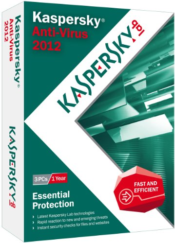 Kaspersky Anti-Virus 2012 - 3 PCs [Old Version]