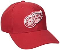 NHL Detroit Red Wings Basics Structured Adjustable Cap, One Size, Red