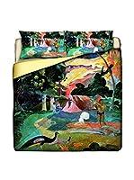 Tele d'autore by MANIFATTURE COTONIERE Edredón Gauguin-Matamoe (Multicolor)