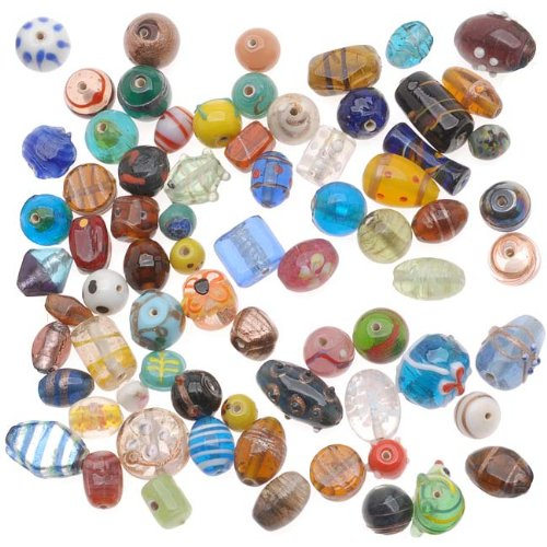 eCrafty's Everything But the Kitchen Sink! ONLY LAMPWORK Glass Beads Mix 1/2 Lb