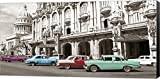 Vintage American Cars in Havana, Cuba Canvas Art Wall Picture, Museum Wrapped with Black Sides and sold by Great Art Now, size 36x18 inches. Great Art Now was started in 2002 by a group of friends with an interest in both art and technology. ...