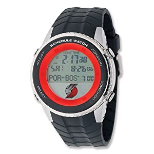 Mens NBA Portland Trail Blazers Schedule Watch by Jewelry Adviser Nba Watches