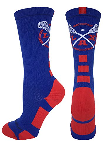 buy LAX Lacrosse Crew Socks (Royal/Red, Medium) for sale