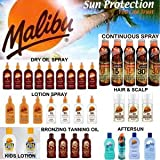 Malibu Suncare Suntan Products - Sun Creams, Dry Oil Sprays, Bronzing Tanning Oils, Aerosol Continuos Sprays, Gels And Aftersuns (AEROSOL A462 LOTION SPRAY SPF15 175ml)