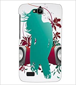 Printdhaba Girly D-4186 Back Case Cover For Huawei Honor Holly