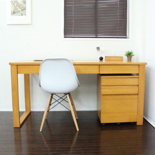 パソコンデスク 北欧 書斎机 学習机 ダイニングテーブル パイン材 150cm幅 2点セット 収納 木製 RP002+RP003