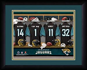 NFL Personalized Locker Room Print Black Frame Customized Jacksonville Jaguars by You