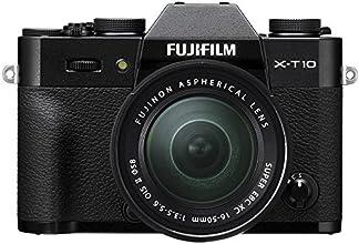 "Fujifilm X-T10 Appareil Photo Hybride Ecran LCD 3"" (7,62 cm) 16,3 Mpix Kit Boîtier Noir + Objectif XC 16-50 mm II"