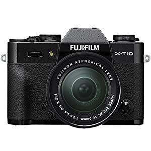 Fujifilm X-T10 Compact System Camera - Black (16 MP, CMOS Sensor, XC 16 - 50 mm Lens)