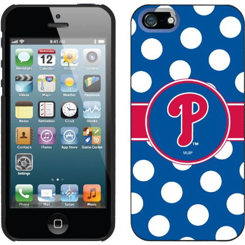 Great Sale Philadelphia Phillies - Polka Dots design on a Black iPhone 5 Thinshield Snap-On Case by Coveroo