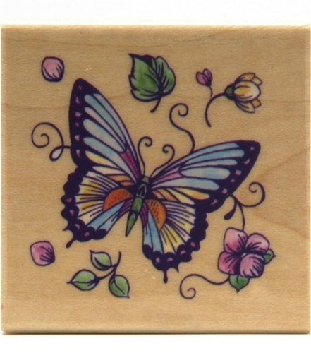 Rubber Stampede - Butterfly Stamp - 1