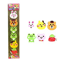 Cute Erasers Party Favors for Kids Erasers for Kids Animal Erasers Children Birthday Gifts Jungle Party Supplies Strip