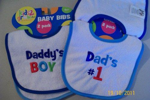 Kids 2 Grow Baby Bibs, 2 Pack