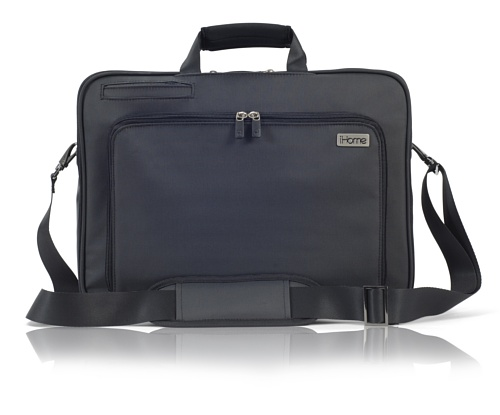 Ihome Smart Brief: 15 Inch Laptop Briefcase For Mac, Black front-352833